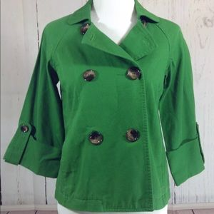 Old Navy Green Double Breasted Jacket Small